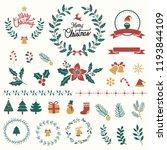 set of christmas design... | Shutterstock .eps vector #1193844109