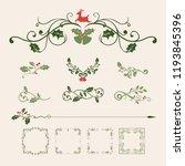 set of decorative christmas... | Shutterstock .eps vector #1193845396