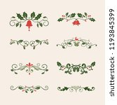 set of decorative christmas... | Shutterstock .eps vector #1193845399