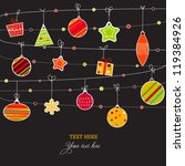 doodled christmas card with... | Shutterstock .eps vector #119384926