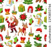 christmas pattern background of ... | Shutterstock .eps vector #1193853766