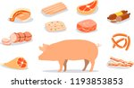 pork products are widely... | Shutterstock .eps vector #1193853853