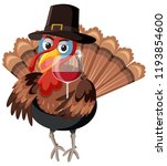 a turkey character on white... | Shutterstock .eps vector #1193854600