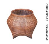 brown bamboo basket isolated on ... | Shutterstock . vector #1193859880
