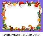 christmas or new year greeting... | Shutterstock .eps vector #1193859910