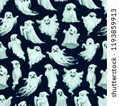 halloween scary ghost pattern... | Shutterstock .eps vector #1193859913