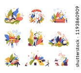 picnic summer vacation of... | Shutterstock .eps vector #1193860909