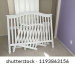 white disassembled crib | Shutterstock . vector #1193863156