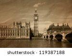 Vintage View Of London   Big...