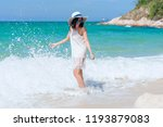 summer time woman vacation on... | Shutterstock . vector #1193879083