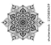 mandalas for coloring  book.... | Shutterstock .eps vector #1193885659