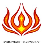 fire flames icon. flammable... | Shutterstock .eps vector #1193902279
