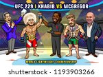 ufc 229  khabib vs. mcgregor is ... | Shutterstock .eps vector #1193903266