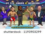 ufc 229  khabib vs. mcgregor is ... | Shutterstock .eps vector #1193903299
