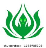 lotus flower logo abstract... | Shutterstock .eps vector #1193905303