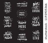 lettering design with travel... | Shutterstock .eps vector #1193905366
