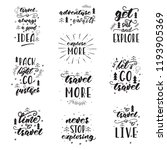 lettering design with travel... | Shutterstock .eps vector #1193905369
