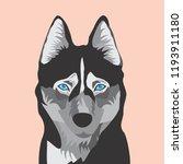 blue eye husky   Shutterstock .eps vector #1193911180
