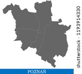 high quality map of poznan is a ... | Shutterstock .eps vector #1193914330