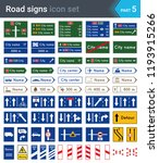 road signs isolated on white... | Shutterstock .eps vector #1193915266
