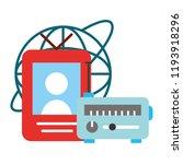 radio mp3 world broadcast... | Shutterstock .eps vector #1193918296