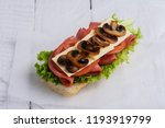 sandwich with tomato cheese and ...   Shutterstock . vector #1193919799
