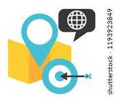 map location pin world target   Shutterstock .eps vector #1193923849