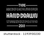 dot font. hand drawn type face. ...   Shutterstock .eps vector #1193930230