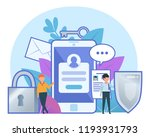 personal data under protection  ... | Shutterstock .eps vector #1193931793