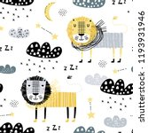 seamless childish pattern with... | Shutterstock .eps vector #1193931946