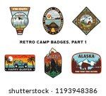 set of retro wanderlust logos... | Shutterstock .eps vector #1193948386