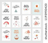 collection of 12 cute merry... | Shutterstock .eps vector #1193950420