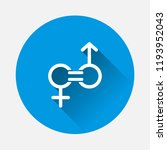 gender equality vector icon on ... | Shutterstock .eps vector #1193952043