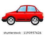 red car. vector 3d illustration ... | Shutterstock .eps vector #1193957626