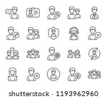 users line icons. male and... | Shutterstock . vector #1193962960