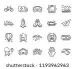 transport line icons. set of... | Shutterstock . vector #1193962963