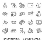 money line icons. set of credit ... | Shutterstock . vector #1193962966