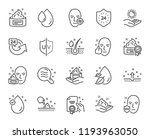 skin care line icons. set of... | Shutterstock . vector #1193963050