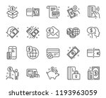 money line icons. set of update ... | Shutterstock . vector #1193963059