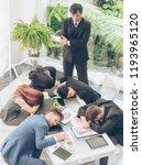 worker lazy person sleep... | Shutterstock . vector #1193965120