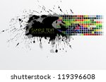 color swatches stain banner | Shutterstock .eps vector #119396608