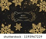 merry christmas shiny card with ... | Shutterstock .eps vector #1193967229