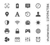 setting glyph icons | Shutterstock .eps vector #1193967586