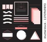 set of design elements vector | Shutterstock .eps vector #1193969893