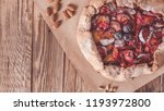 christmas cake  pastries with a ...   Shutterstock . vector #1193972800