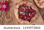 christmas cake  pastries with a ...   Shutterstock . vector #1193972803