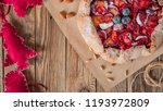christmas cake  pastries with a ...   Shutterstock . vector #1193972809