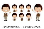 set of strong characters | Shutterstock .eps vector #1193972926