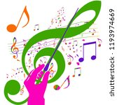 colorful music background.... | Shutterstock .eps vector #1193974669