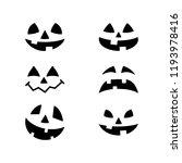 halloween pumpkin faces icons... | Shutterstock .eps vector #1193978416
